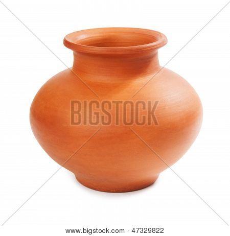 Ceramic Vase Isolated On White