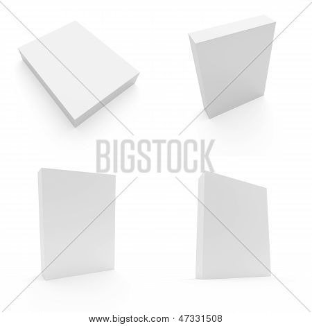 Blank Box On White Background - Set