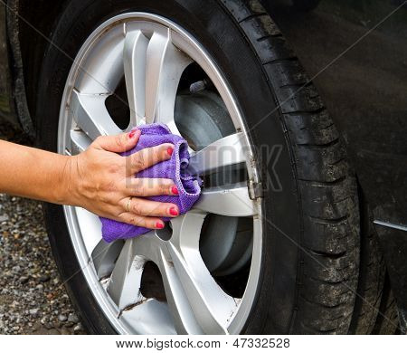 Outdoor Tire Car Wash With Sponge