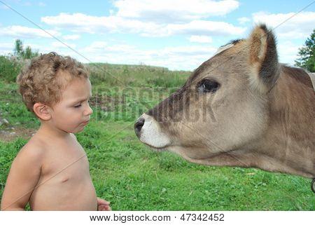 The Boy And The Calf