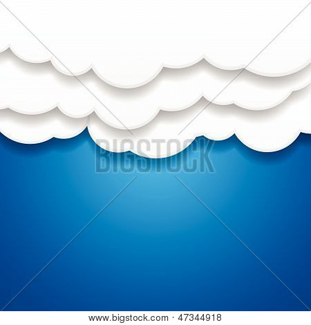 Paper Clouds Background