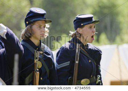 Hb Civil War Re-enactment - Female Soldiers