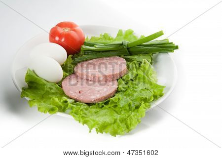 Bild von Zwiebel, Eier, Schinken, Tomaten