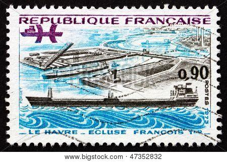 Postage Stamp France 1973 Francis I Lock, Le Havre