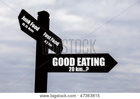 Good Eating - Hard To Find? Sign.
