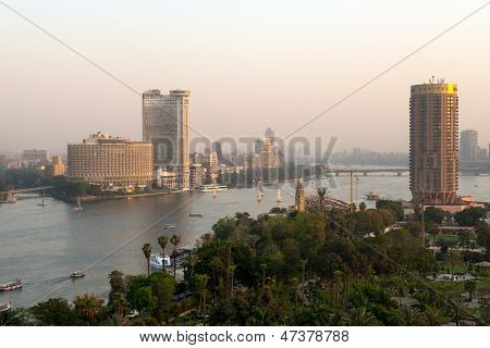 Sunset view of Cairo city