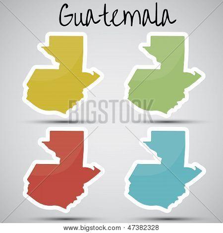 adesivos em forma de Guatemala