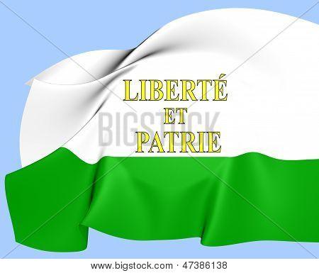 Flag Of Vaud, Switzerland.