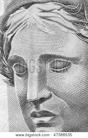 Republic's Effigy portrayed as a bust on Brazilian Real