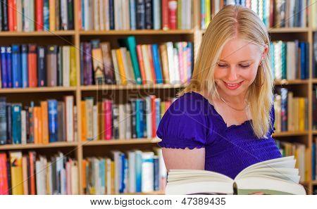 Happy Blonde Reader