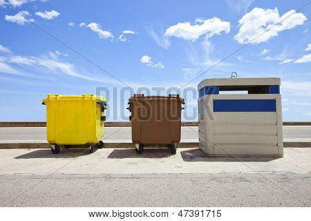 Recycling bins, Valencia Region, Spain