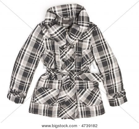Ladies' Jacket In Black And White Square