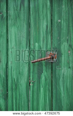 Teufel auf grüne Tür