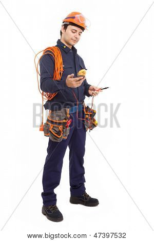 Full length portrait of a manual worker