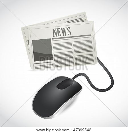 Web News Concept Illustration Design