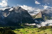 Schreckhorn In Alps, Switzerland
