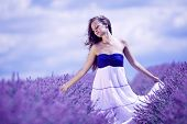 woman on lavender field