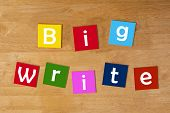 The Big Write - Word Sign Series For Education.