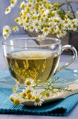 pic of naturopathy  - Chamomile Herbal Tea in a glass cup - JPG