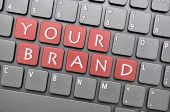 Your brand on keyboard poster