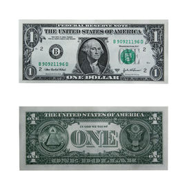 picture of one hundred dollar bill  - both sides of the one dollar bill isolated on white with cllipping path - JPG