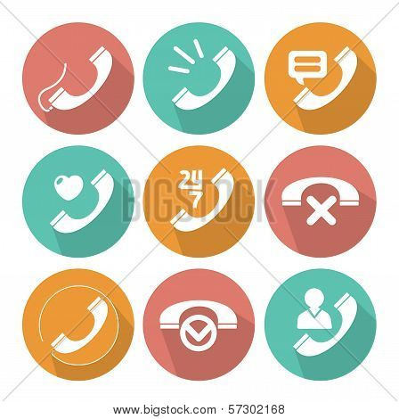 Phone Tube flat icons vector collection
