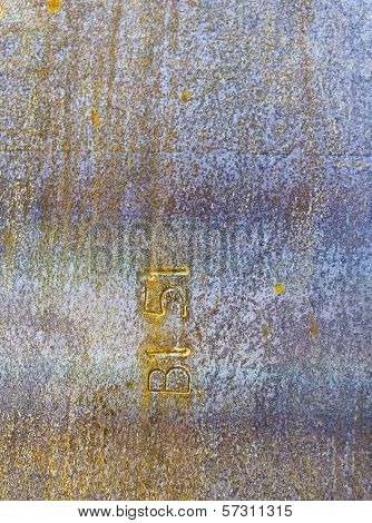 Metal plate steel COR-TEN background
