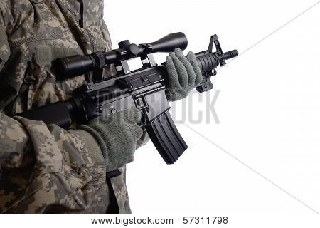 Soldier With 4M Rifle.
