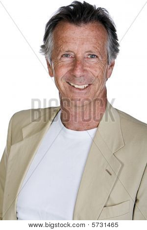 Isolated Shot Of A Handsome Senior Man