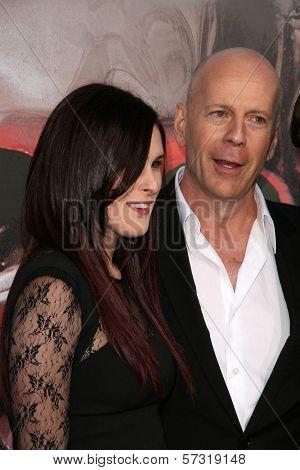 Rumor Willis, Bruce Willis at the