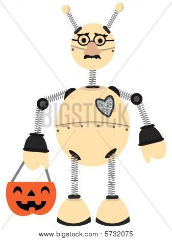 Robot Wearing Groucho Glasses Halloween Costume