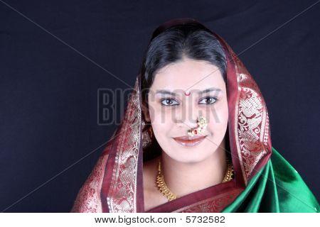 Traditional Marathi Woman