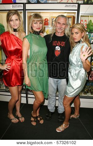 Ashkey King, Rena Riffel, Camden Toy and Bridgetta Tomarchio at the Girls and Corpses Magazine Summer Alien Autopsy Issue Party, Meltdown Comics, Hollywood, CA. 08-20-10