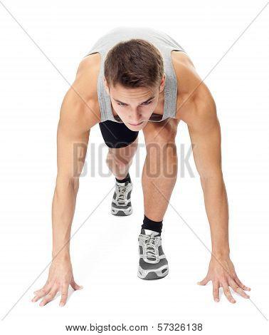 Athlete Man Ready To Run