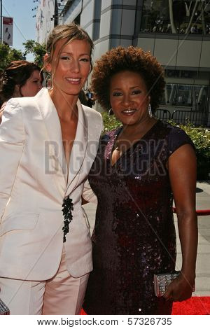 Alex Sykes and Wanda Sykes  at the 2010 Primetime Creative Arts Emmy Awards,  Nokia Theater L.A. Live, Los Angeles, CA. 08-21-10