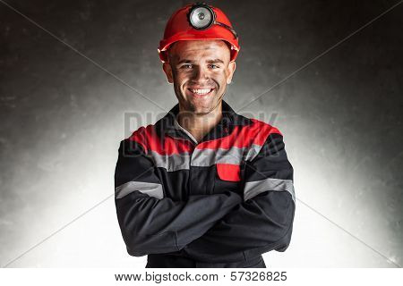 Happy Smiling Coal Miner