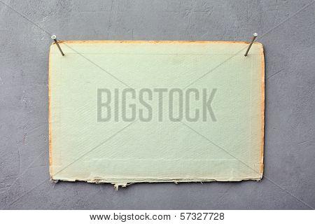 Cardboard Nailed To Wall