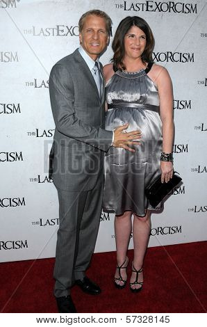 Patrick Fabian and wife Linda  at a Special Screening of
