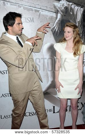Eli Roth and Ashley Bell at a Special Screening of