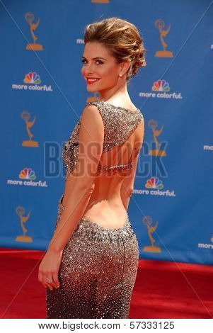 Maria Menounos at the 62nd Annual Primetime Emmy Awards, Nokia Theater, Los Angeles, CA. 08-29-10