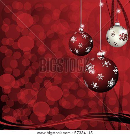 Christmas-Maroon & Silver Balls.