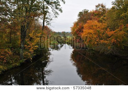 Small Stream with Colorful Fall Foliage