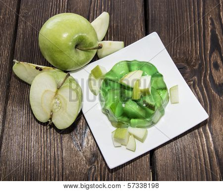 Portion Of Apple Jello