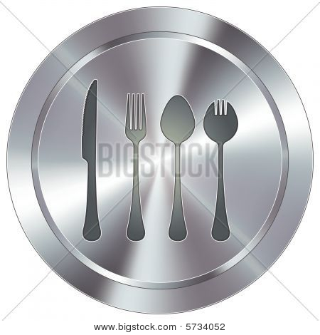 Modern silverware button