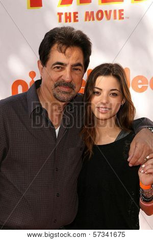 Joe Mantegna and Gia Mantegna at the premiere of