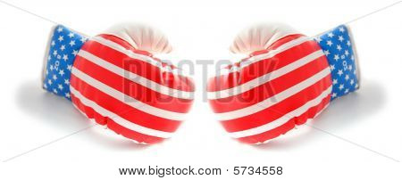 Boxing Gloves Usa Stars And Stripes Flag