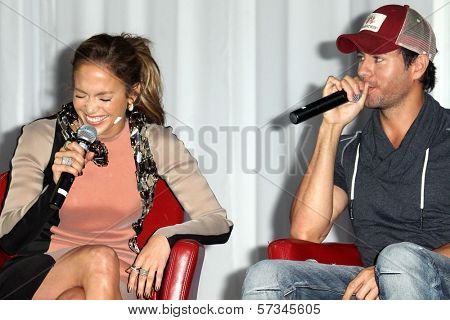 Jennifer Lopez, Enrique Iglesias at the Jennifer Lopez and Enrique Iglesias Summer Tour 2012 Press Conference, Blvd. 3, Hollywood, CA 04-30-12