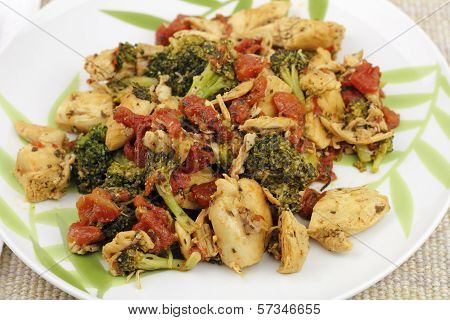 Chicken, Broccoli And Tomatoes Dinner