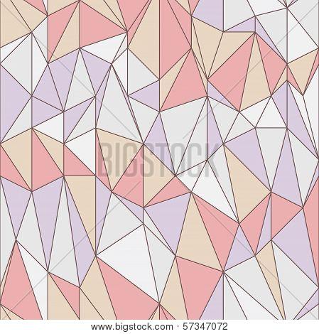 Seamless Geometric Pattern With Triangular Grid