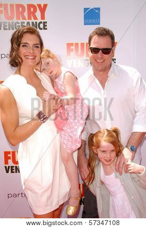 Brooke Shields and family at the Los Angeles Premiere of